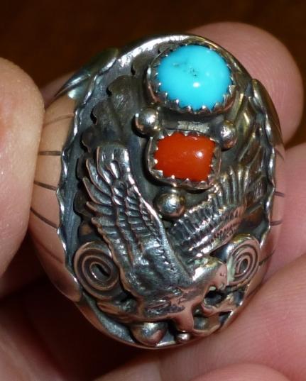 Fancy Navajo biker ring 1960s