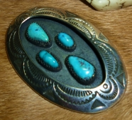 Bisbee Blue turquoise pendant
