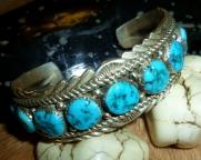 Kingman turquoise cuff